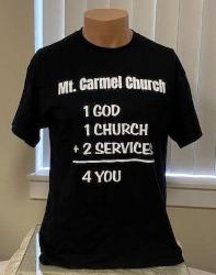 Black 1 God T-Shirt $7.00 (all sizes)